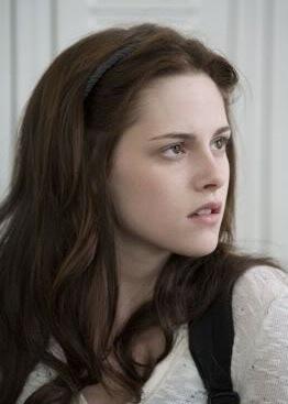 La protagonista, Bella Swan (Kristen Stewart), con la cara que usará el resto de la película.