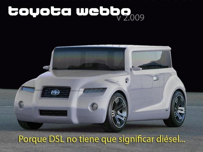 Corra a su distribuidor Toyota y apártese un Webbo...